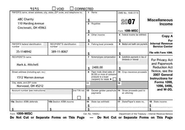 Form 1098s or 1099s are