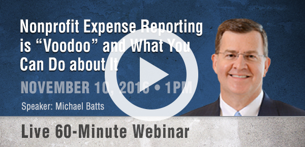 Nonprofit Expense Reporting
