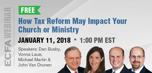 How Tax Reform May Impact Churches and Ministries Webinar