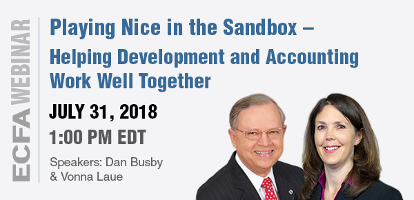 Playing Nicely in the Sandbox – Helping Development and Accounting Work Well Together Webinar