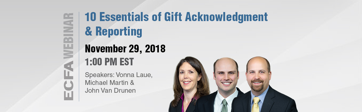 10 Essentials of Gift Acknowledgement & Reporting Webinar