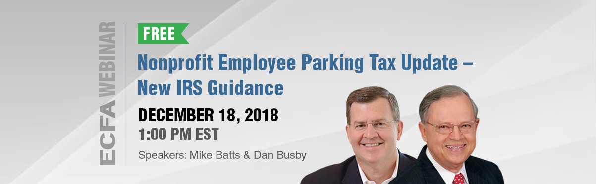 Nonprofit Employee Parking Tax Update