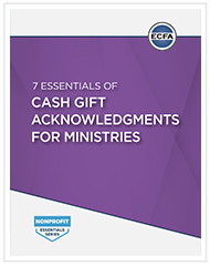 7 Essentials of Cash Gift Acknowledgments