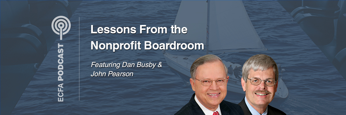 Lessons from the Nonprofit Boardroom Podcast